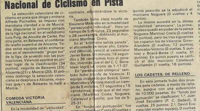 Imagen de Liga Nacional de Ciclismo en Pista – 1987