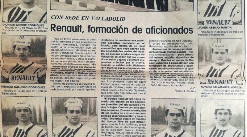 Imagen de Equipo Renault de aficionados, Valladolid 1987