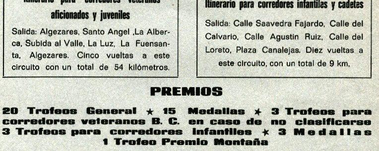 Imagen de Carteles de carreras en Murcia en 1977