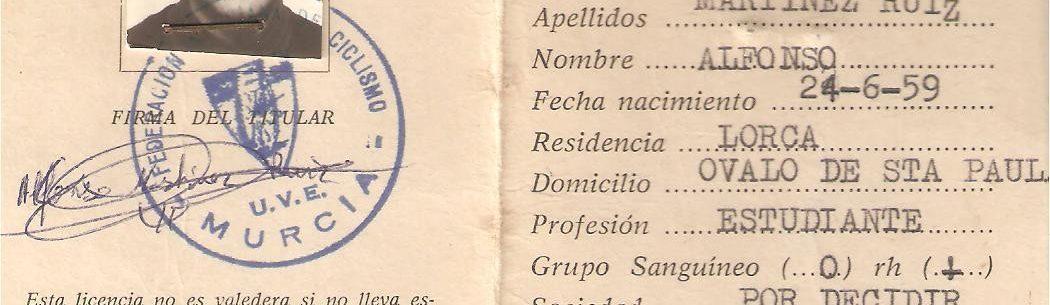 Imagen de Licencia ciclista del año 1976