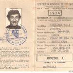 Licencia ciclista del año 1976