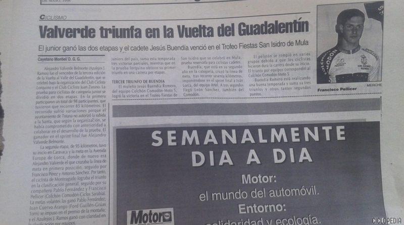 Imagen de Vuelta del Guadalentín para juveniles – Lorca (Murcia) 1998