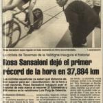 Récord de la hora nacional femenino de Rosa Sansaloni - Valencia 1995