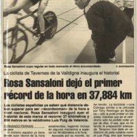 Récord de la hora nacional femenino de Rosa Sansaloni – Valencia 1995