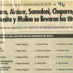 Resultados Campeonatos de la Comunidad Valenciana - 1994