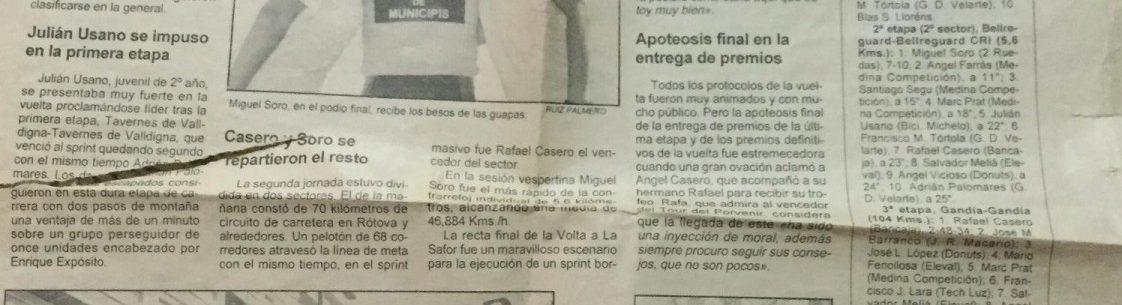 Imagen de Volta la Safor para juveniles, Gandía (Valencia) – 1994