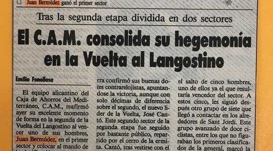 Imagen de XVIII Vuelta al Langostino para aficionados, Vinaroz (Castellón) – 1991