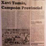Xavi Tomás en el Campeonato provincial cadete en Llanera (Valencia) - 1992