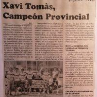 Xavi Tomás en el Campeonato provincial cadete en Llanera (Valencia) – 1992