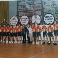 Presentación de los equipos ciclistas del Velo Club Pedalier de Xàtiva (Valencia) – 1995