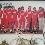 """Presentación del equipo cadete """"Construcciones Arensol"""" del Club Ciclista Cullera (Valencia) - 1977"""
