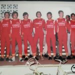 """Imagen de Presentación del equipo cadete """"Construcciones Arensol"""" del Club Ciclista Cullera (Valencia) – 1977"""