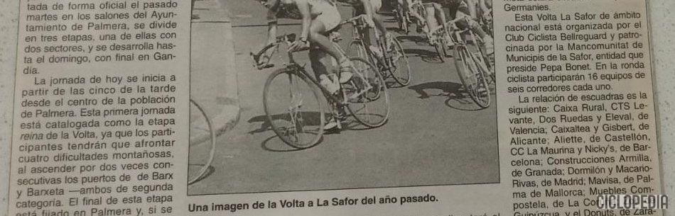 Imagen de Volta la Safor para juveniles, Gandía (Valencia) – 1993