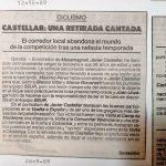 Javier Castellar deja el ciclismo - 1989